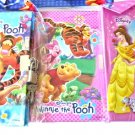 A - 3 BOOKS BOOK DIARY tinkerbell DISNEY'S PRINCESS WINNIE THE POOH CINDERELLA PARTY FAVORS TOYS