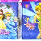 B - 2 BOOKS BOOK DIARY tinkerbell DISNEY'S PRINCESS WINNIE THE POOH CINDERELLA PARTY FAVORS TOYS