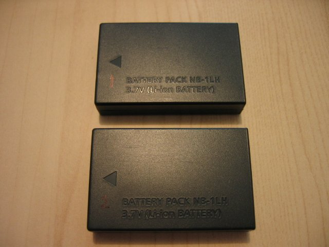 SOLD - 2 CANON NB-1L NB-1LH BATTERY S230 S400 S410 S330 S500 digital camera ixus elph photo