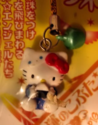 sushi boy HELLO KITTY PHONE ACCESSORY IPOD CHAIN COLLECTIBLE knitting crochet stitch markers