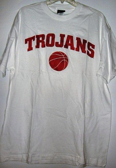 CHAMPS OFFICAL TEAM SPORTS SHIRT USC TROJAN BASKETBALL sz L MEN'S WOMEN'S CLOTHES