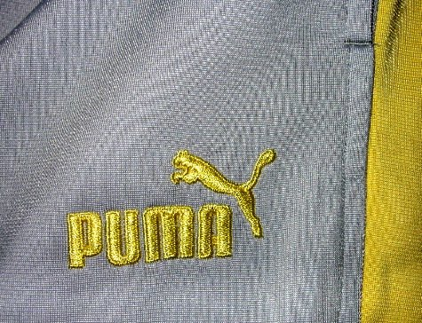 PUMA PANTS MEN'S BASKETBALL GRAY YELLOW clothing CLOTHES SPORTS ATHLETIC APPAREL SZ XL