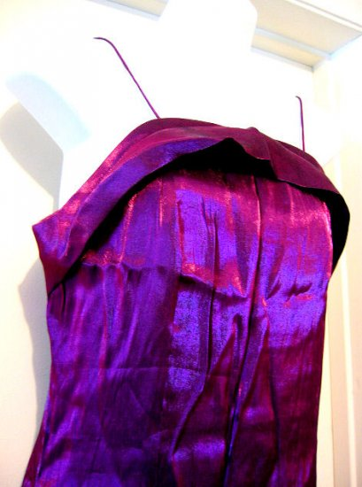 SZ XL FORMAL spaghetti strap EVENING GOWN DRESS WOMEN'S CLOTHES SPARKLY purple maroon