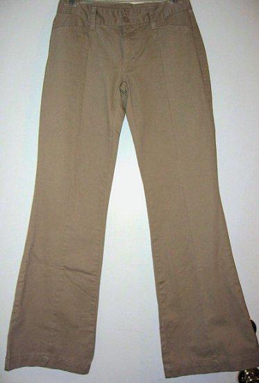 NEW khaki KHAKIS pants bootcut COTTON DARK BROWN SZ 4 JUNIORS lk gap old navy girl's clothes