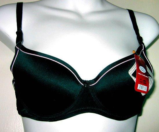 gorgeous BLACK SPORT PINK TRIM T-SHIRT SEXY WOMEN'S CLOTHES LINGERIE SEX LYCRA