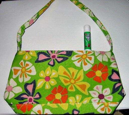 mint green CANVAS FLORAL TOTE WOMEN'S ACCESSORY BAG PURSE HANDBAG SO CUTE makeup bag