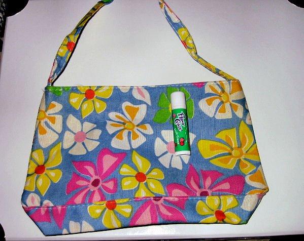 BLUE CANVAS FLORAL TOTE WOMEN'S ACCESSORY BAG PURSE HANDBAG SO CUTE makeup bag