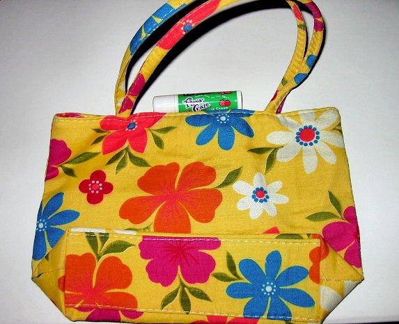 yellow CANVAS FLORAL TOTE WOMEN'S ACCESSORY BAG PURSE HANDBAG SO CUTE makeup bag