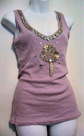 flapper 1920's stretch lilac purple tank top CLUBBING women's clothes beaded MINI SKIRT DRESS