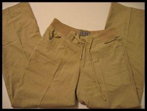 tosca khaki pants khakis drawstring women's clothes slacks juniors sz s