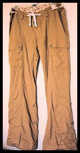 A&F ABERCROMBIE vintage PANTS KHAKIS BOOTCUT SZ S WOMEN'S JUNIORS CLOTHING LONG TALL
