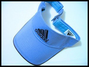 sold - ADIDAS NAVY BLUE VISOR CAP HAT TENNIS GOLF WOMEN'S MEN'S ACCESSORY CLOTHES