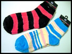 A* furry super soft SOCK SOCKS SET NEW women's GIRL'S ACCESSORIES CLOTHES LOT OF 2 PAIRS