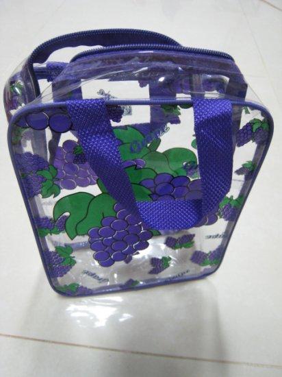 big purple grape funky clear transparent makeup bag pouch women's accessory beauty product