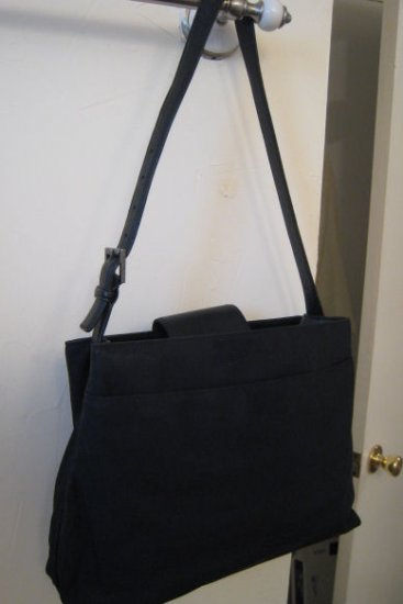 authentic COACH BLACK MICROFIBER LEATHER BAG HANDBAG PURSE WOMEN'S ACCESSORY OFFICE