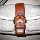 AUTHENTIC COACH WHITE SIGNATURE LEATHER BAG purse handbag women's accessory cute!