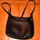 AUTHENTIC lk new COACH BLACK HIPPIE MESSENGER BAG PURSE HANDBAG GENUINE LEATHER WOMEN'S ACCESSORY