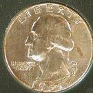 1957 D silver Washington quarter u.s. coin collection money bill hobby