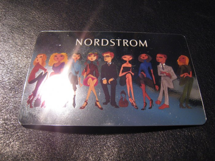 NORDSTROM GIFT CARD CERTIFICATE $138 CUTE SILVER PICTURE birthday wedding idea flowers gifts