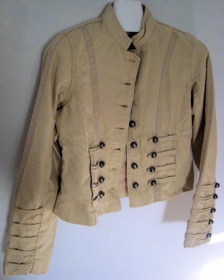 JACKET PIRATES FASHION L CLOTHES TAN CREME HIP PICASSO WOMEN'S BUTTONS CLOTHES CLOTHING BLAZER COAT