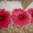 blank FLOWER CARD CARDS GIFT FLOWERS HOME GARDEN - Pink DAISY + FREE CONFETTI scrapbooking