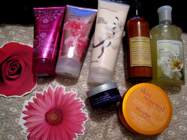 7 BATH & BODY WORKS SET lotion cream bath pure aromatherapy shimmer beauty products health lot