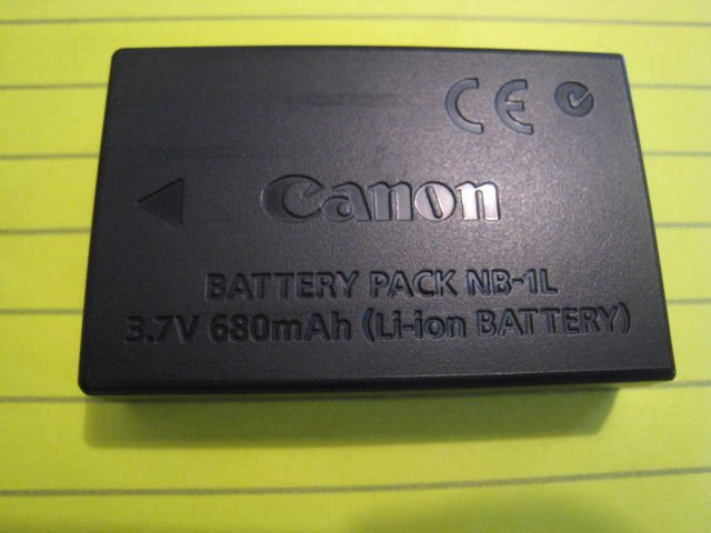 CANON ORIGINAL Li-ion BATTERY OEM NB-1L DIGITAL CAMERA PHOTO POWERSHOT IXUS ELPH S400 S300 S500