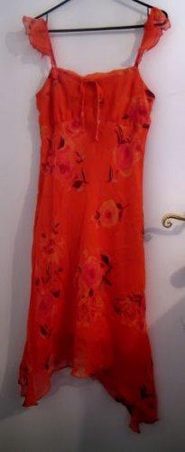 WOMEN'S JUNIOR'S DRESS ORANGE SEXY CLOTHES CLOTHING CHIFFON