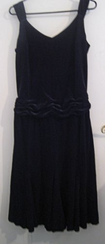 WOMEN'S BLACK VELVET DRESS CLASSIC BEAUTY CLOTHES CLOTHING