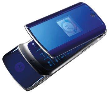 Motorola MOTO KRZR Krazr K1 K-1 Blue Cell Phone MOTOKRZR digital camera electronic electronics gift