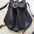 AUTHENTIC COACH BUCKET BAG WITH BELT BLACK WOMEN'S BAG HANDBAG PURSE #15 leather accessory