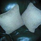 lot 2 pillow pillows sofa home decor brand new olefin made in USA green
