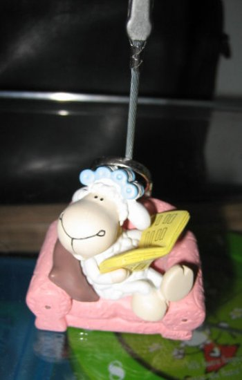 handmade CRAFT ART LAMB SOFA PAPER DECORATIVE COLLECTIBLE HOME OFFICE HOLDER CLIPPER STAND sheep