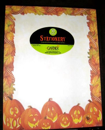 pumpkin STATIONERY 50 SHEETS office paper pads scrapbook writing sheets supply letter note memo