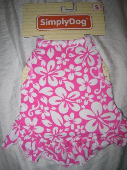 small dog t-shirt cotton stretch clothing shirt pet animal tank pink hawaii dress home pets