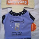 "xxs small dog t-shirt clothing shirt diamond pet animal purple ""diamonds are a dog's best friend"""