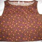 women's wool tank top t-shirt flower orange brown cardigan clothing clothes boatneck