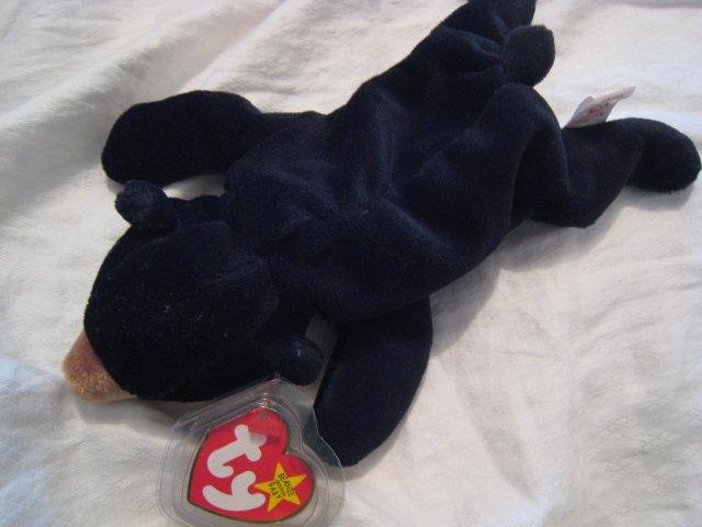 #4 black bear BEANIE BABY DOLL STUFF ANIMAL TOY KIDS CHILDREN HOME GIFT BIRTHDAY