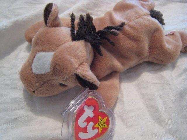 #5 HORSE MULE BROWN BEANIE BABY DOLL STUFF ANIMAL TOY KIDS CHILDREN HOME GIFT BIRTHDAY