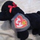 #7 black poodle dog BEANIE BABY DOLL STUFF ANIMAL TOY KIDS CHILDREN HOME GIFT BIRTHDAY