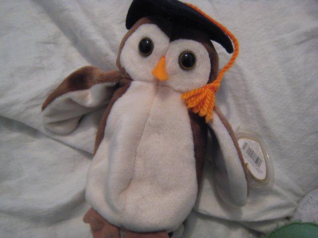 #16 owl bird graduation BEANIE BABY DOLL STUFF ANIMAL TOY KIDS CHILDREN HOME GIFT BIRTHDAY