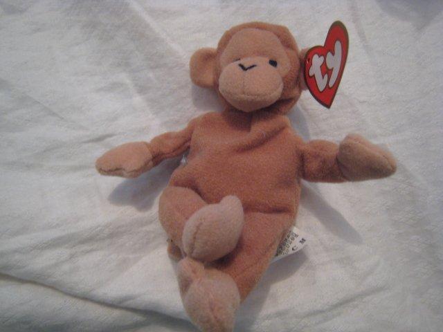 #22 small monkey BEANIE BABY DOLL STUFF ANIMAL TOY KIDS CHILDREN HOME GIFT BIRTHDAY