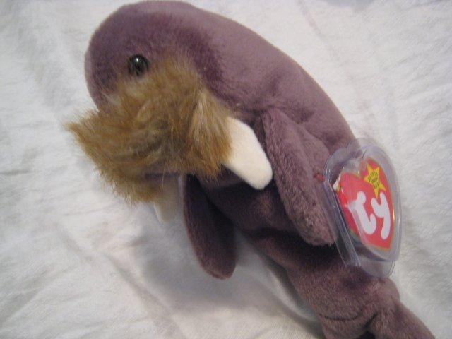 #26 walrus BEANIE BABY DOLL STUFF ANIMAL TOY KIDS CHILDREN HOME GIFT BIRTHDAY