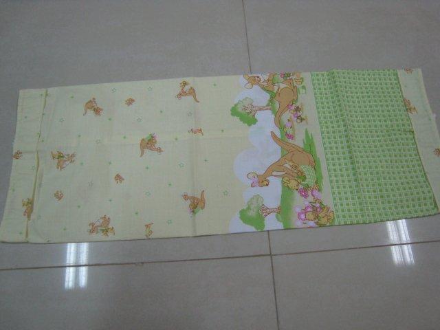 KANGAROO KIDS BABY LINEN BOLSTER PILLOW PILLOWCASE SHEET BED BEDROOM COTTON SOFT TRIMMING