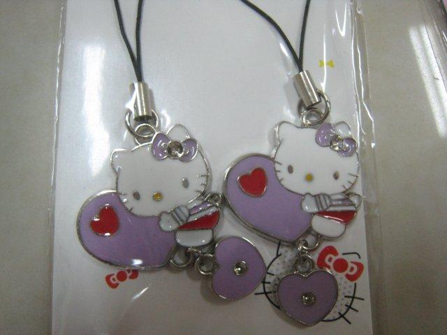heart HELLO KITTY HAND strap charm CELL PHONE DIGITAL CAMERA IPOD I-POD accessory PURSE