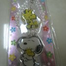 SNOOPY WOODSTOCK PEARL strap charm CELL PHONE DIGITAL CAMERA IPOD I-POD accessory PURSE