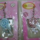LOLLIPOP PEARL BOW strap charm CELL PHONE DIGITAL CAMERA IPOD I-POD accessory PURSE