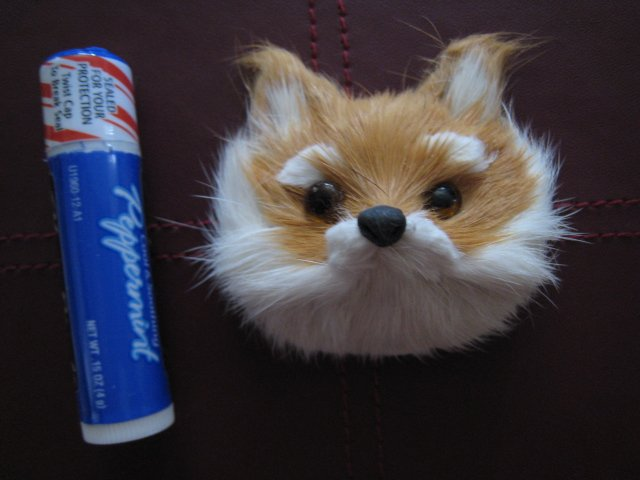 FOX MAGNET FURRY ANIMAL FIGURINE COLLECTIBLE EYES