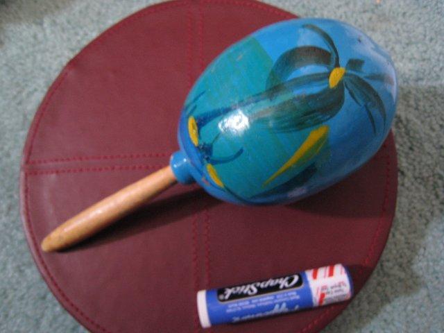 MEXICO BLUE MARACA MUSIC BEAT DRUM HOME HOBBY