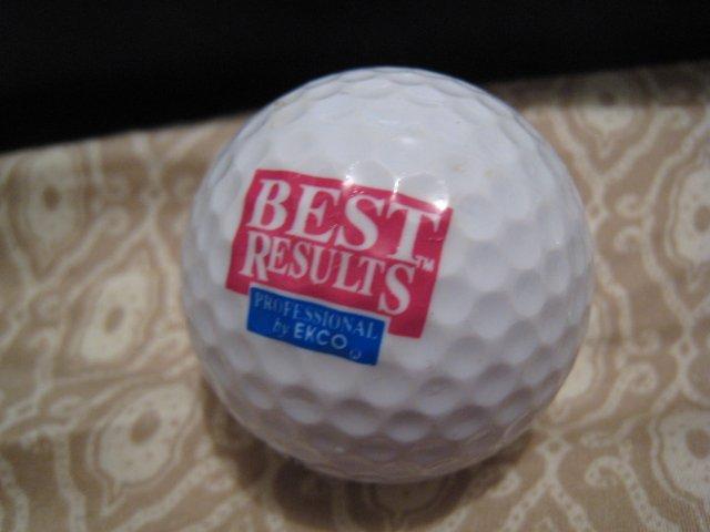 BEST RESULTS EKCO - COLLECTOR'S GOLF BALL SPORTS MEMORABILIA DECORATIVE COLLECTIBLE HOME